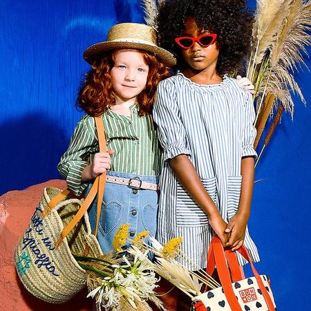 Kids Bonton Charlie Dress With All Over Stripes - Blue