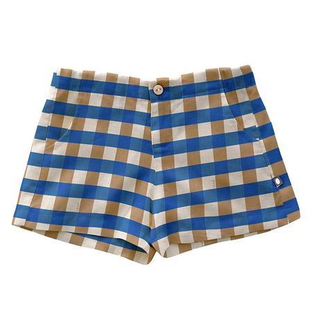 Kids Oeuf Shorts - Sky Blue Gingham