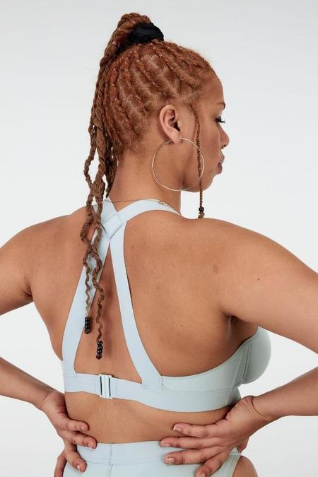 La Fille d'O Baybee T-Back Bikini Top - Baby Blue