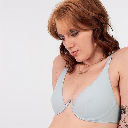 La Fille d'O Changes Mono Wire Bikini Top - Baby Blue