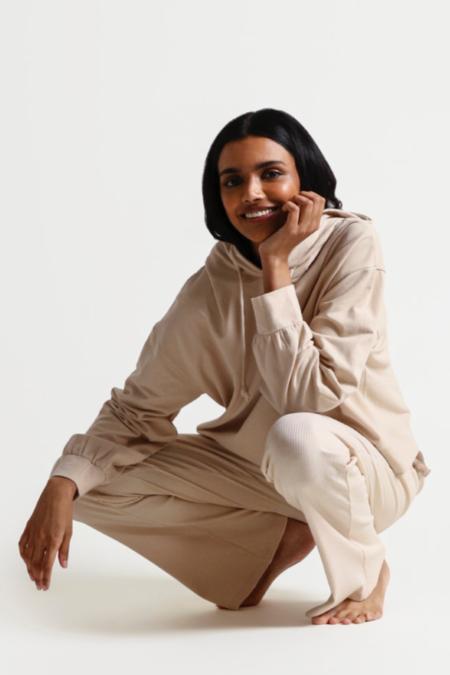Skin Elsie Hoodie sweater - Latte
