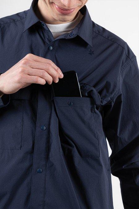 Goldwin Square Box Coach Shirt - Navy