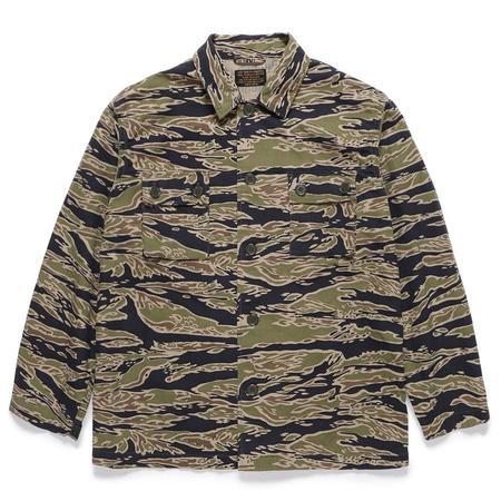 Wacko Maria Tiger camo Army Shirt - Olive