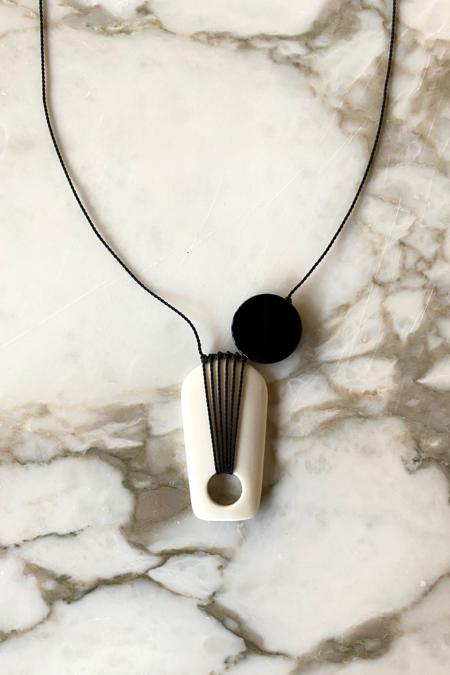 I. Ronni Kappos Moon Shadow Necklace