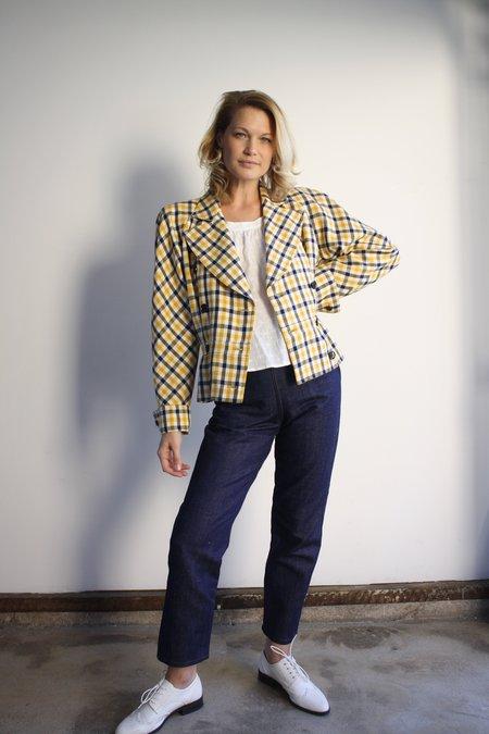 Vintage Valentino Plaid Jacket