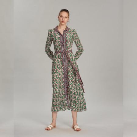 Saloni Vanessa-B Dress - Larkspur Leaf Print