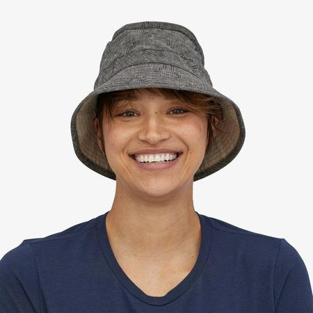 Patagonia Reversible Island Hemp Bucket Hat - Goshawk/Ink Black