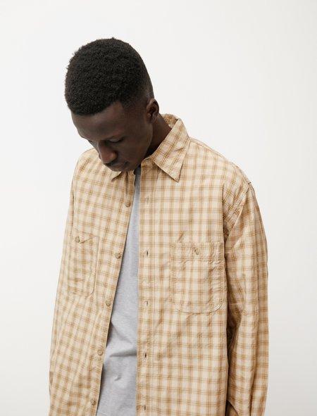 Orslow Vintage Fit Work Shirt - Khaki Check