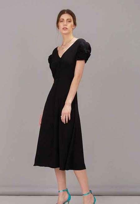 Saloni Margot Dress - Black