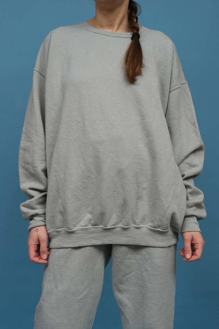 WOLF & GYPSY VINTAGE Hand Dyed Relaxed Fit Sweatshirt - Matcha