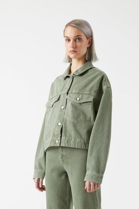 Dr. Denim Khalila Cropped Jacket - Washed Green