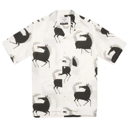 Portuguese Flannel Horse Shirt - White
