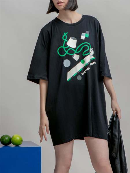 Matter Matters Cups and Balls T shirt dress - Black