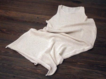 Nido hand knitted lino dress - natural