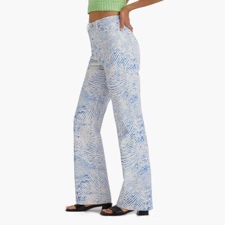 Paloma Wool Huella High Waisted Pants - Azul/Ecru