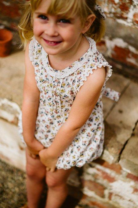 kids little cotton clothes Afia Romper - Aster Floral