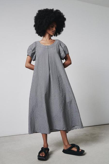 Fabiana Pigna Darcy Check Dress - Black/White