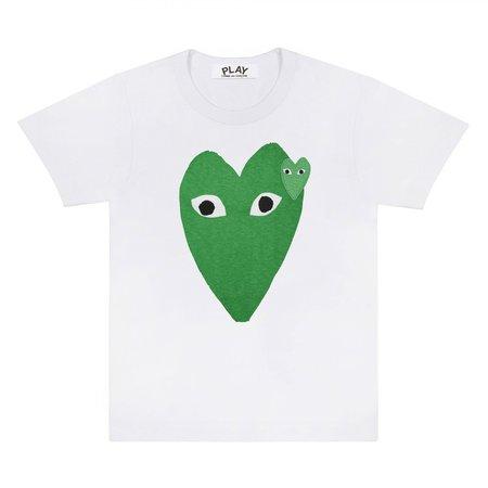 Comme des Garçons Stretch Heart Tee - Green/White