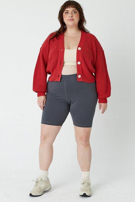back beat rags Organic Cotton Biker Shorts - Cement