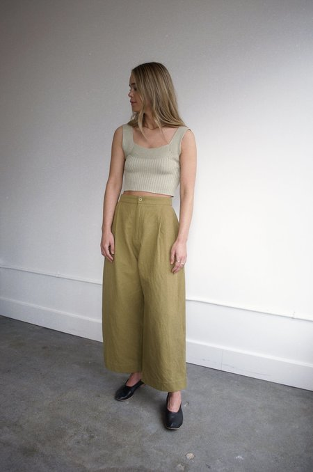 Micaela Greg Pleated Trouser - Ochre