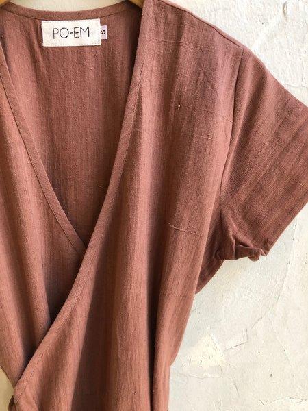 PO-EM Cotton Ode Dress - RED