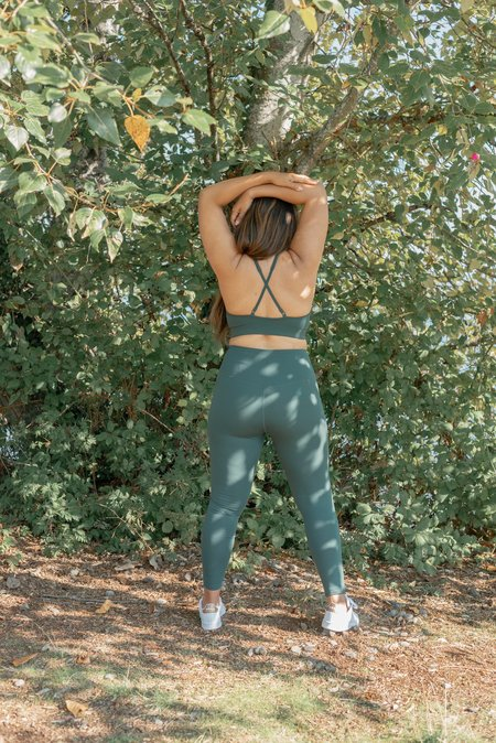 Girlfriend Collective Leggings Taille Haute 28.5 - Moss