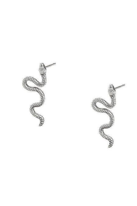 Talon Snake Stud - Sterling Silver