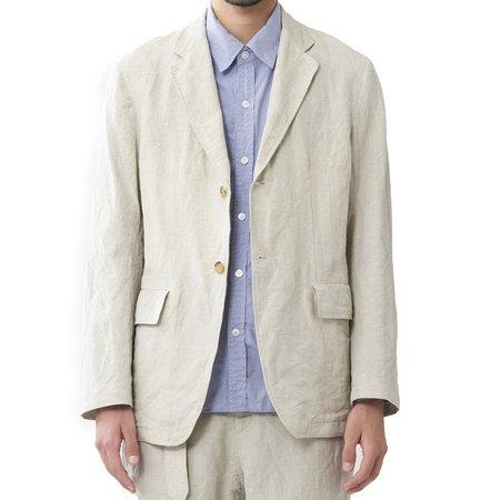 Sage de Cret Linen Blend Blazer Jacket - Natural