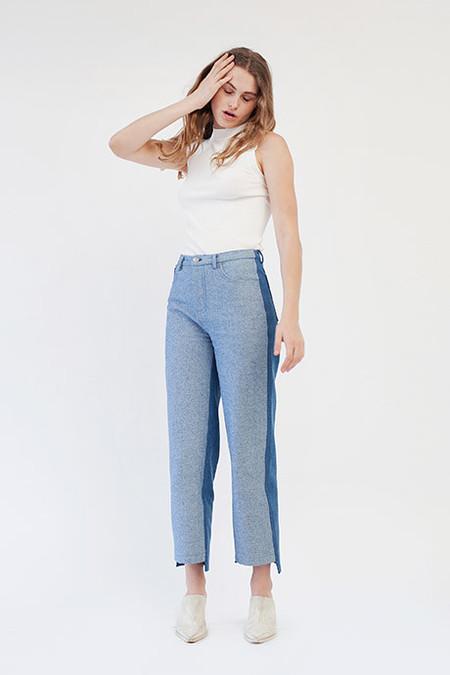 Öhlin/D Two-Tone Denim Trouser