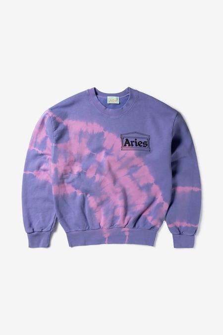 Aries Arise Tie-Dye Temple Sweatshirt - Lilac