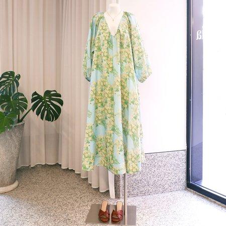 BERNADETTE Georgette Linen Dress - Bouquet Print