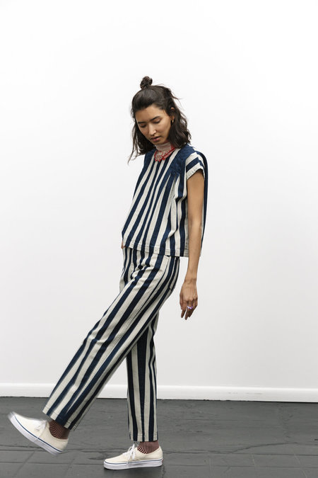 Carleen Relaxed Jeans - Wide Stripe