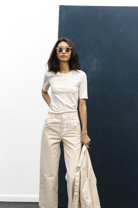 Carleen Ribbed Siren Tee Shirt - Organic