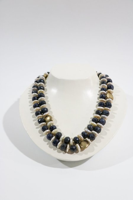 pre-loved Raw Sapphire Necklace