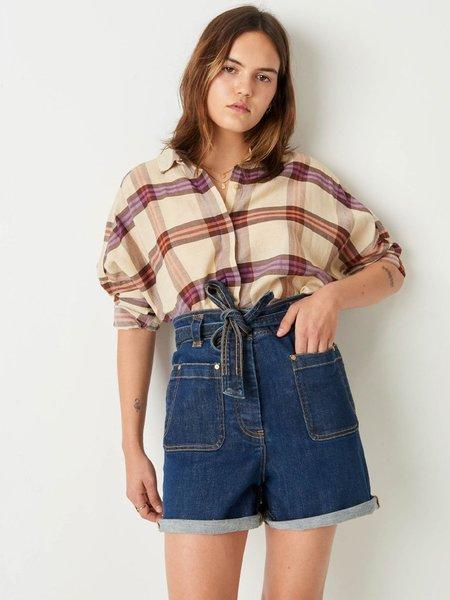 Sessun Delima Check Shirt - Ceramica