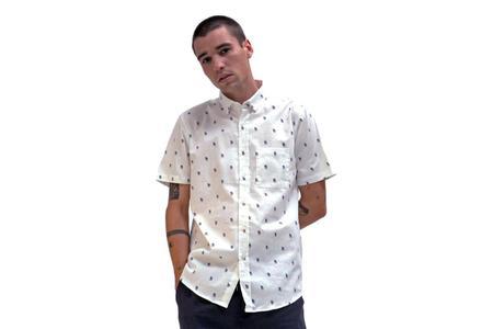 Far Afield Cognito Short Sleeve Shirt - Peace Print