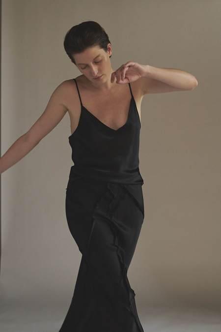 KES After Hours Silk Slip Cami - Black