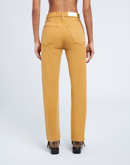 RE/DONE 70s Stovepipe Denim - Washed Mustard