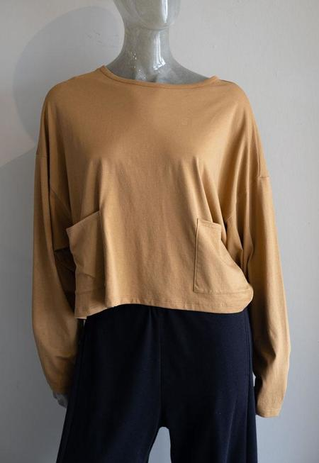 Paper Label Boxy Long Sleeve Top