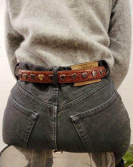 Vintage Saks Leather Heart Belt