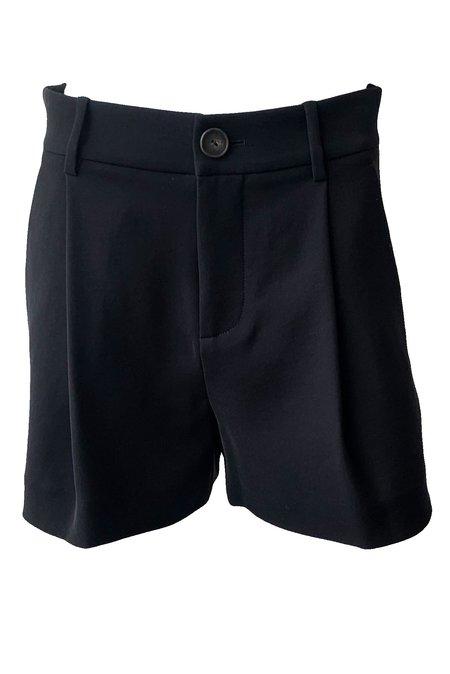 VINCE Pleat Front Short - Black