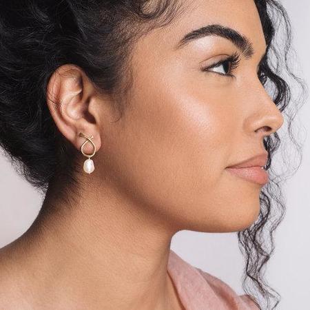 Goldeluxe Jewelry Small Odyssey Baroque Earrings - Brass