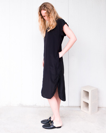 Esby Kate Silk Dress - Black