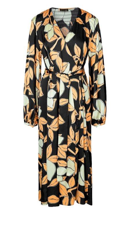 Stine Goya Sebie Wrap Dress - Lemons