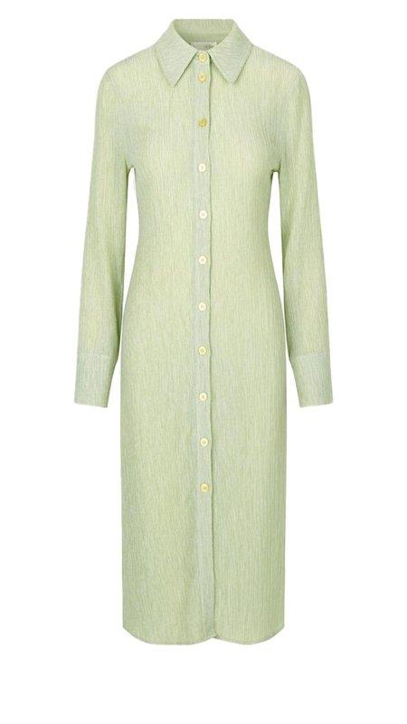 Stine Goya Tomo Shirt Dress - Sage