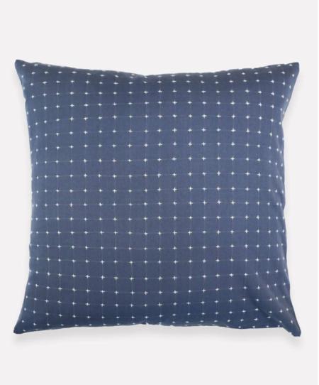 Anchal Project Cross Stitch Toss Pillow - Slate