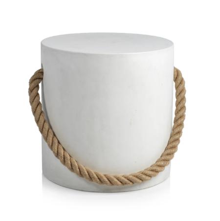 Zodax Marina Concrete Stool - White