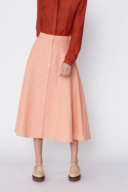 Megan Huntz Leslie Midi Skirt - Italian Pink