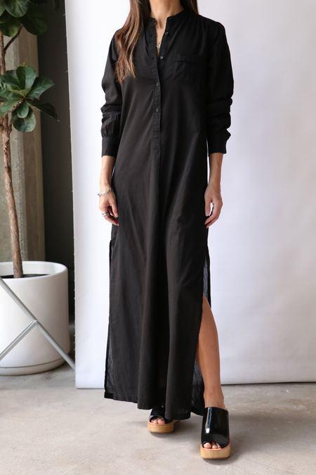 Nili Lotan Sandra Galabeya Dress - Black