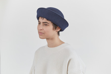 Clyde 4 Way Hat in Navy Wool